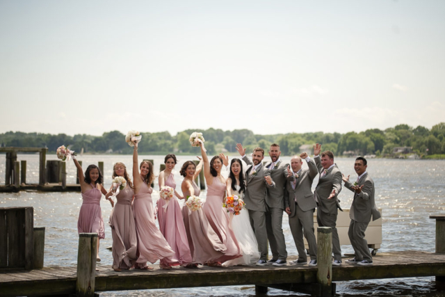 Chesapeake Shore weddings and events bride and groom eastern shore weddings beach weddings wedding party Chesapeake bay