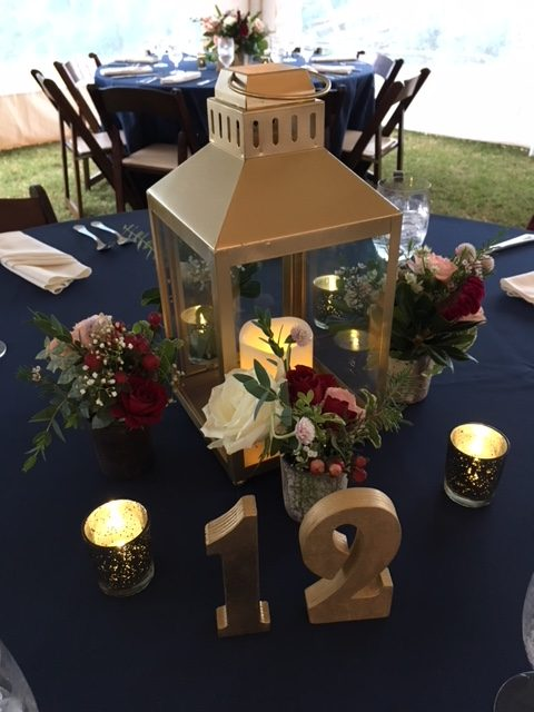 Chesapeake Shores Weddings and Events wedding ceremony set up eastern shore Chesapeake Bay table decor