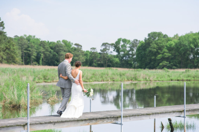 Chesapeake-shore-weddings-and-events-eastern-shore-wedding-dock-bride-and-groom-southern-style-wedding-Chesapeake-bay