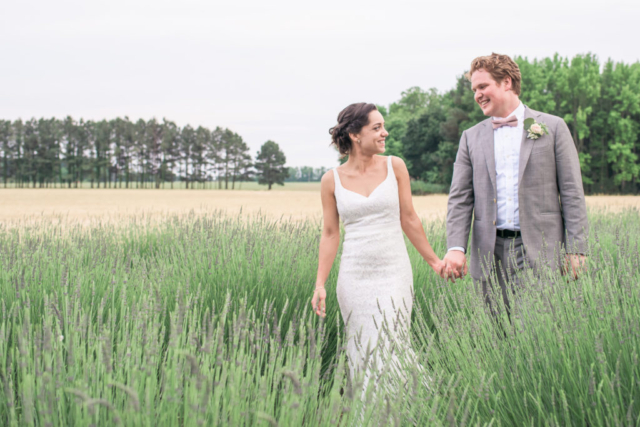chesapeake-shore-weddings-and events-bride-and-groom-lavender-field-eastern-shore-southern-style-wedding