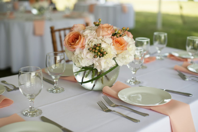 Chesapeake Shore Weddings and Events southern style catering flowers wedding table set up eastern shore Chesapeake bay